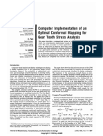 Computer Implementation of an Optimal Conformal Mapping for Gear Tooth Stress Analysis