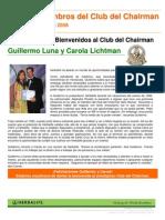 Reseña de calificación al Chairmans Club, Guillermo y Carola Lichtman