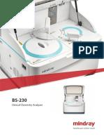 Chemistry Analyzer Mindray BS-230 Brochure