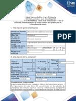 Guía de actividades y rúbrica de evaluación - Fase 2 - Informar Planteamiento y comprensión del problema de telecomunicaciones