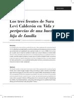 Los tres frentes de Sara Levi Calderón