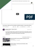 Como fazer o efeito de FITA DE VÍDEO VHS SEM PLUGINS __ Tutorial After Effects - YouTube