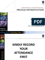 Lecture 9 - Process Intensification (PI) SE Jan 2020