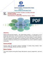 HR Analytics course - Pamphlet