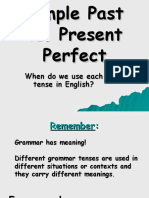 PAST SIMPLE AND PRESENT PERFECT TENSE - ONE.ppt