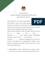 FORM PENDAFTARAN KPPS PEMILU 2019