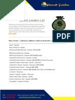 Secret Lenders List 6.2019