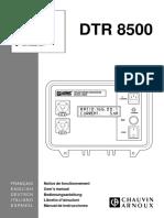 DTR 8500 manual