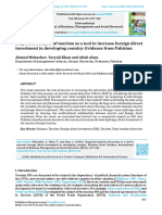 Empirical Analysis of Tourism as a Tool to Increase Foreign Direct