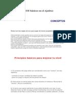 11 PRINCIPIOS básicos en el Ajedrez