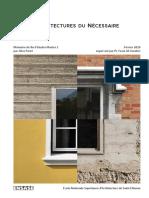 Architectures du Nécessaire - Alice Paret