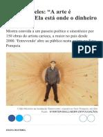 Cildo Meireles - A arte é prostituta
