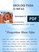 PSIKOLOGI PADA IBU NIFAS