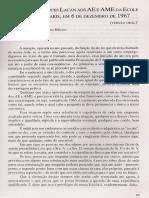 Discurso de Lacan Aos AE e AME Da Ecole Freudienne de Paris (Versão Oral)