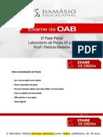 Laboratorio de Pecas 05 ao 08 - Prof. Patricia Madeira
