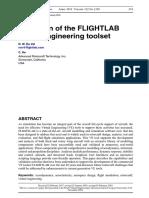 Validation of the FLIGHTLAB- virtual engineering toolset by Ron