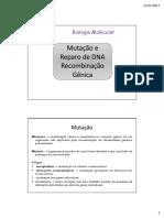 mutação e reparo de dna recombinação