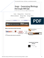 MCQ on Recombinant DNA Technology _ MCQ Biology - Learning Biology through MCQs