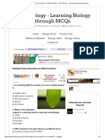 Multiple Choice Questions on DNA Extraction _ MCQ Biology - Learning Biology through MCQs