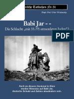 Udo Walendy - Historische Tatsachen - Nr. 51 - Babi Jar - Die Schlucht Mit 33.771 Ermordeten Juden (1992, 41 S., Text)