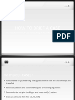 1st Class 2016-17 How to brief a Case