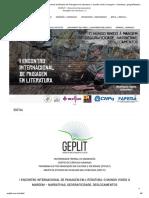 ENIPLIT - I Encontro Internacional de Estudos de Paisagem em Literatura_ o mundo vivido à margem – narrativas, geograficidade, deslocamentos