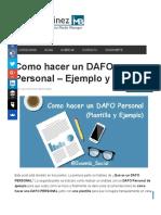 Como hacer un DAFO Personal - Ejemplo y plantilla