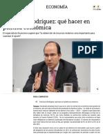 Francisco Rodríguez - Qué hacer en política económica