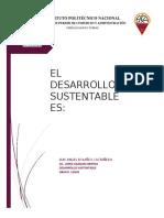 EL DESARROLLO SUSTENTABLE ES