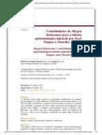 Contribuições de Jürgen Habermas para o debate epistemológico iniciado por Karl Popper e Theodor Adorno