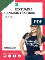 Aula 1 - Diferença Entre Tipos Textuais e Gêneros Textuais - Profa. Pamba