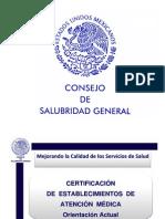 Consejo de Salubridad Certificación de Establecimientos
