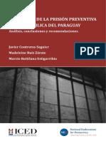 Analisis de la Aplicacion de la Prision Preventiva en Paraguay