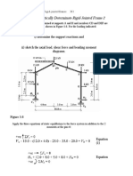 Rigid Jointed Frame Analysis