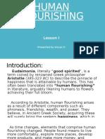 Group 4 - Lesson 1, Human Flourishing