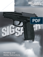 21251107 Sig Sauer Sp 2022 Pistol Handling Safety Instructions