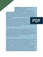 Definiciones Educacion especial