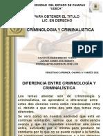 CRIMINOLOGIA Y CRIMINALISTICAa