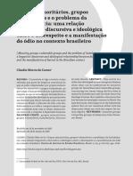 CLAUDIO MÁRCIO DO CARMO - Grupos minoritários, grupos vulneráveis e o problema da (in)tolerância.pdf