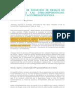 PROGRAMAS DE REDUCCIÓN DE RIESGOS EN ATENCIÓN A LAS DROGODEPENDENCIAS