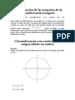 Demostración de la ecuación de la circunferencia