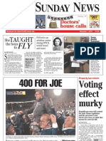 Front page - York Daily Record/Sunday News, Nov. 7, 2010