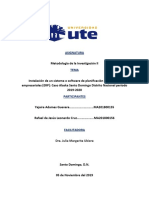 Instalación de un sistema o software de planificación de recursos empresariales