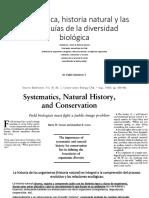 BIodiversidad, Jerarquias, Historia Natural, Organismos, Teoria de Nicho