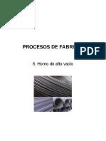Procesos de Fabricación Sesión 6. Horno de alto vacio