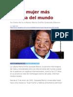 LA PAGINA - Muere mujer más anciana del mundo con 117 año de Edad
