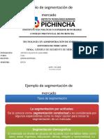EJEMPLO DE SEGMENTACION DE MERCADO     IVAN APUNTE