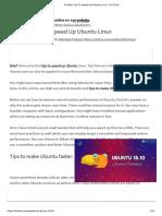 10 Killer Tips To Speed Up Ubuntu Linux - It's FOSS