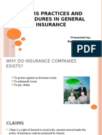 Claims practices and procedures