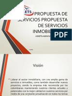 PROPUESTA DE SERVICIOS PROPUESTA DE SERVICIOS INMOBILIARIOS
